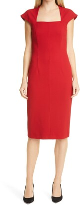 HUGO BOSS Drilekara Cap Sleeve Knit Dress