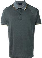 Lanvin striped trim polo shirt - men - Cotton/Rayon - S
