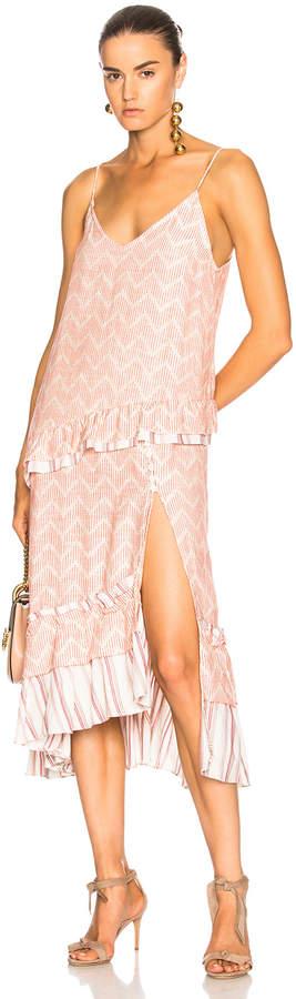 Lemlem Imani Slip Dress in Rust | FWRD