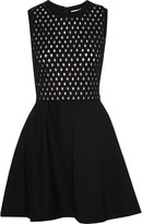 Carven Rob broderie anglaise and cotton-blend dress