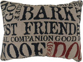 Park B Smith Park B. Smith Dog Words Tapestry Decorative Pillow