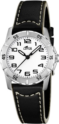 Lotus Quartz Watch with Leather Strap 15945/A