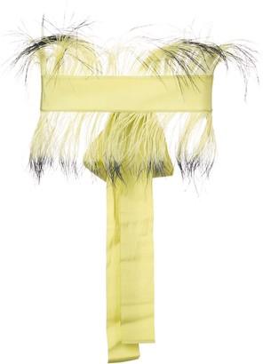 Sara Roka Feather Embellished Waist Belt
