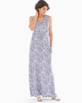Soma Intimates V Neck Maxi Bra Dress Retro Dash Mini White