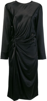 Helmut Lang midi draped dress