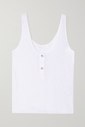 The Range Shadow Ribbed Jersey Tank - White