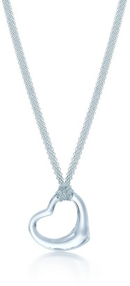 Tiffany & Co. Elsa Peretti Open Heart pendant of rock crystal and sterling silver