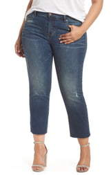 STS Blue Cara Cuffed Slim Straight Jeans