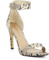 BCBGMAXAZRIA High-Heel Python Sandal