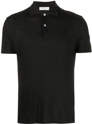Sandro Paris Short-Sleeved Burnout Polo Shirt