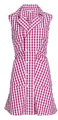 Derek Lam 10 Crosby Women's Satina Gingham Shirt Dress