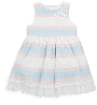 Laura Ashley Stripe Lace Dress
