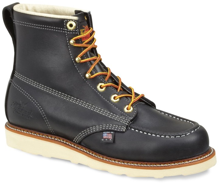 24fab693ca1 American Heritage Men's Moc-Toe Leather Work Boots