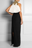 Alexander McQueen Embellished crepe and silk-satin gown