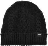Edwin United Knit Beanie Hat Black