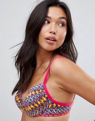 Lepel Rainbow Beach Twist Plung Bikini Top-Pink