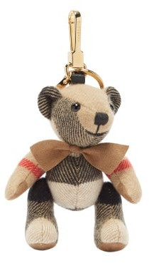 Burberry Thomas Check-cashmere Key Ring - Beige Multi