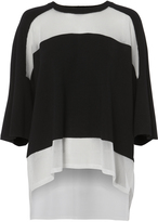 Public School Mesh Insert Knit Top Black P