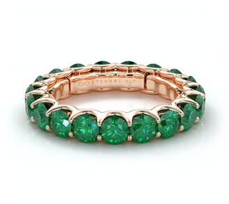The Eternal Fit 14K Rose Gold 3.60 Ct. Tw. Emerald Eternity Ring