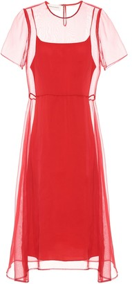 Mansur Gavriel Layered silk dress