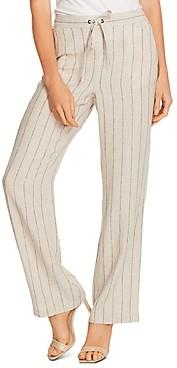 Vince Camuto Natural Stripe Wide-Leg Pants