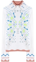 Peter Pilotto Snowflake angora-blend sweater