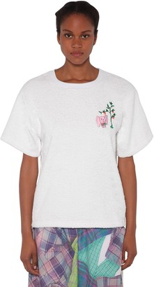 Natasha Zinko Cotton T-shirt W/ Terry Cloth Patch