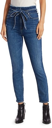 7 For All Mankind Roxanne Paperbag Ankle Skinny Jeans