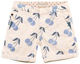 Scotch Shrunk Cream Cherry Print Chino Shorts