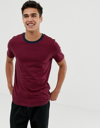 Selected t-shirt with stripe
