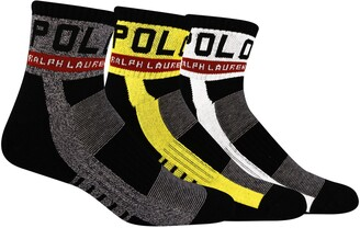 Polo Ralph Lauren 3-Pack Racing Assorted Ankle Socks