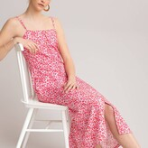 Thumbnail for your product : La Redoute Collections Floral Print Cami Dress with Slit