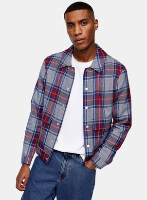 Topman FARAH Wilcox Check Long Sleeve Jacket*