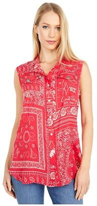Double D Ranchwear Picnic Bandana Top (Rodeo Red) Women's Clothing