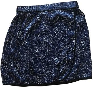 Comptoir des Cotonniers Blue Silk Skirt for Women
