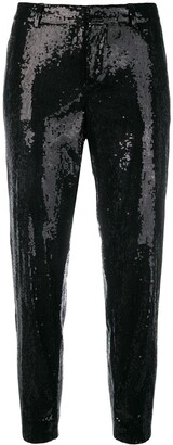 DSQUARED2 Emmalynn Hockney sequinned trousers