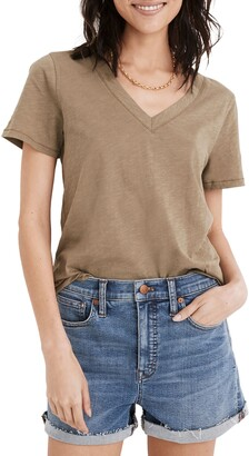 Madewell Whisper Lightweight Cotton V-Neck T-Shirt
