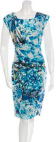 Magaschoni Digital Print Sheath Dress w/ Tags
