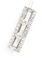 Ef Collection Single Diamond Sapphire Baguette Bar Ear Cuff