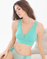 Soma Intimates Wireless Plunge Lace Trim Bra