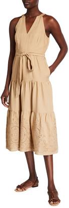 Parker Santana Linen Eyelet Dress
