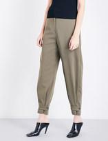 Stella McCartney Lexi high-rise wool twill trousers