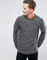 Selected Crew Neck Sweat with Flecked Marl Detail