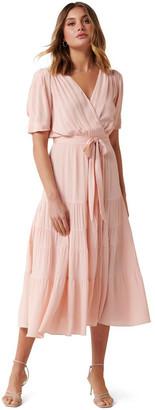 Forever New Jordan Puff Sleeve Tiered Midi Dress