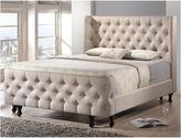 Asstd National Brand Baxton Studio Francesca Beige Linen Modern Platform Bed