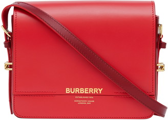 Burberry Small Grace Two-Tone Leather Bag