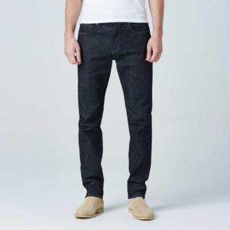 DSTLD Slim Jeans in Dark Wash Resin - Timber Stitch