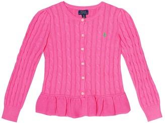 Polo Ralph Lauren Kids Cable-knit cotton cardigan