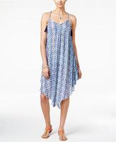 Volcom Juniors' Twist Printed Handkerchief-Hem A-Line Dress