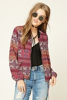 Forever 21 FOREVER 21+ Contemporary Floral Jacket